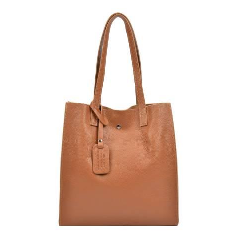 Isabella Rhea Cognac Leather Shoulder Bag