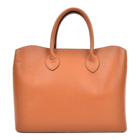 Isabella Rhea Cognac Leather Isabella Rhea Top Handle Bag
