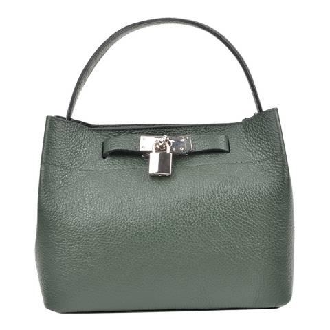 Isabella Rhea Green Leather Isabella Rhea Shoulder Bag