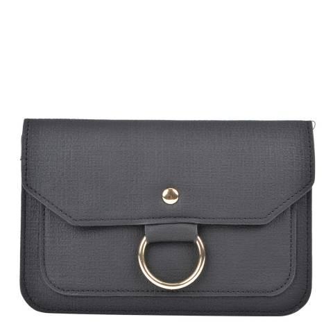 Isabella Rhea Black Leather Isabella Rhea Clutch Bag