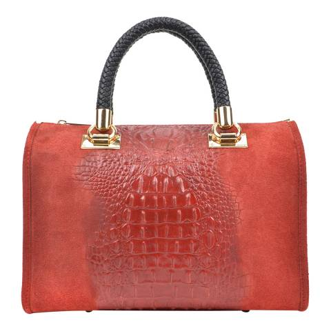Isabella Rhea Pink Leather Roberta M Top Handle Bag