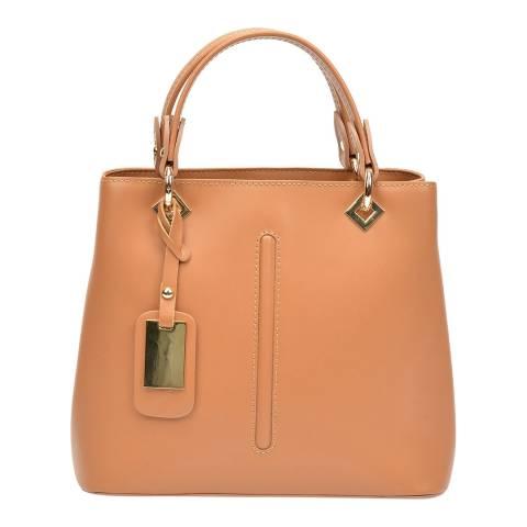 Roberta M Cognac Leather Roberta M Top Handle Bag