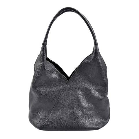 Roberta M Black Leather Roberta Tote Bag