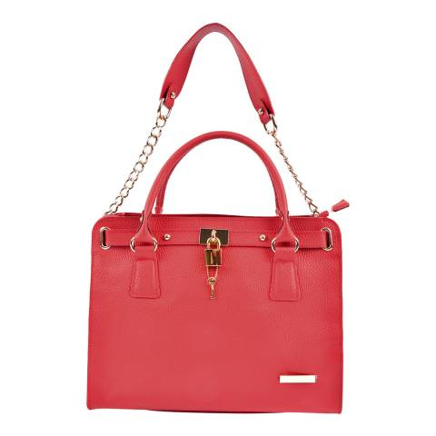 Roberta M Red Leather Roberta M Shoulder Bag