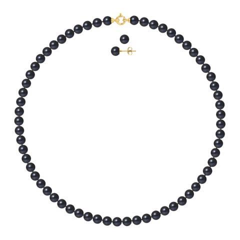 Mitzuko Black Freshwater Pearl Necklace