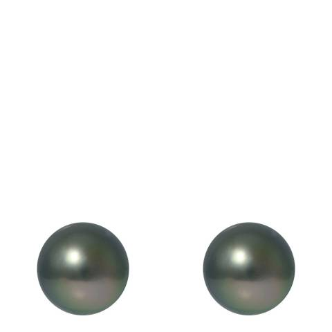 Ateliers Saint Germain Grey Tahitian Style Silver Freshwater Pearl Earrings
