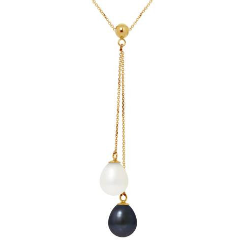 Atelier Pearls White/Black Tahitian Freshwater Pearl Necklace