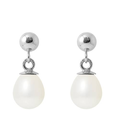 Ateliers Saint Germain White Tahitian Style Silver Freshwater Pearl Earrings
