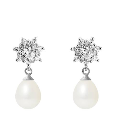 Ateliers Saint Germain Natural White Pearl Earrings 7-8mm