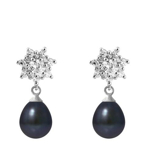 Ateliers Saint Germain Black Pearl Earrings 7-8mm