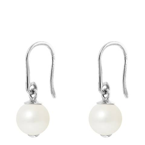 Atelier Pearls Natural White Pearl Earrings 8-9mm