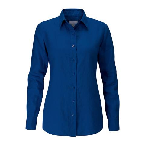 Pure Collection French Navy Linen Shirt