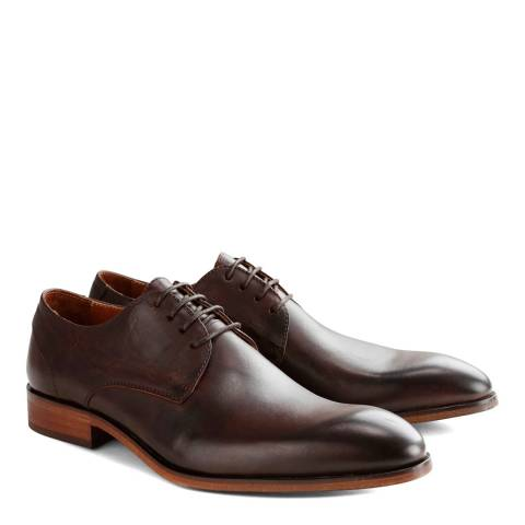 DenBroeck Brown Leather Rector St. Derby Shoes