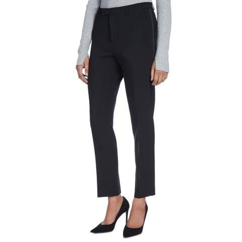 Nicole Farhi Black Slim Leg Tux Trousers