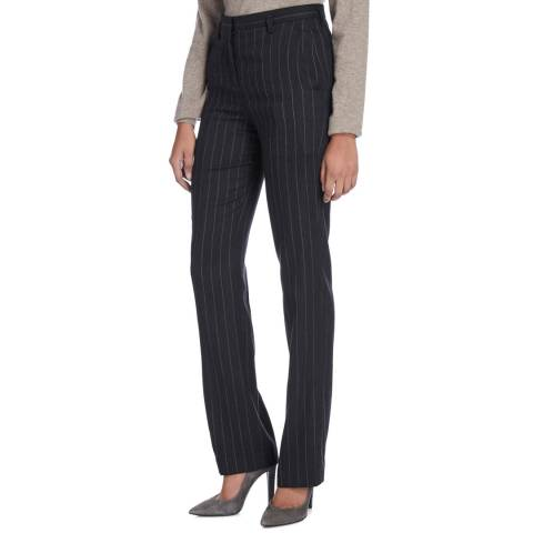 Nicole Farhi Black/Grey Pinstripe Sailor Trousers