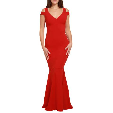 HONOR GOLD Red Evie Maxi Dress