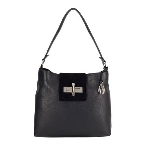 Amanda Wakeley Black Quinn Hobo Leather Bag