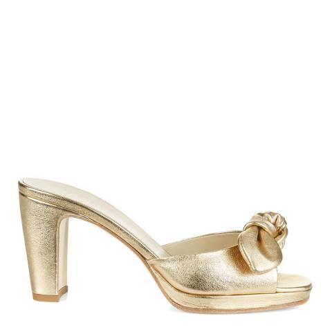 Hobbs London Gold Leather Ophelia Mules