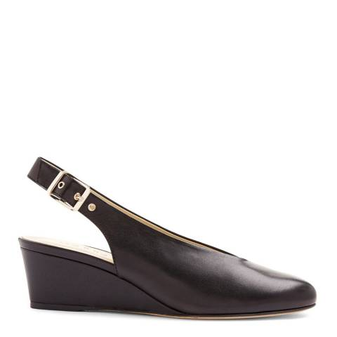 Hobbs London Black Leather Suki Slingback Shoes
