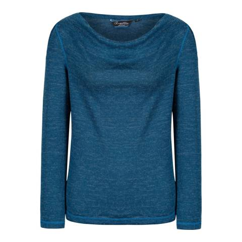 Regatta Majolica Blue Frayda Lightweight Wool Feel Top