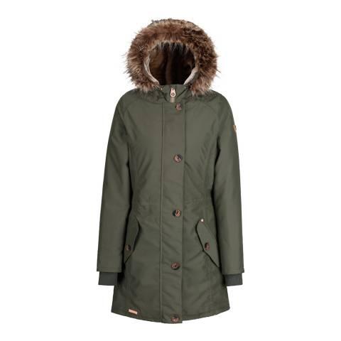 Regatta Dark Khaki Saffira Waterproof Insulated Jacket