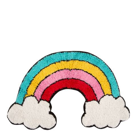 Sass & Belle Patches Pins Rainbow With Clouds Rug