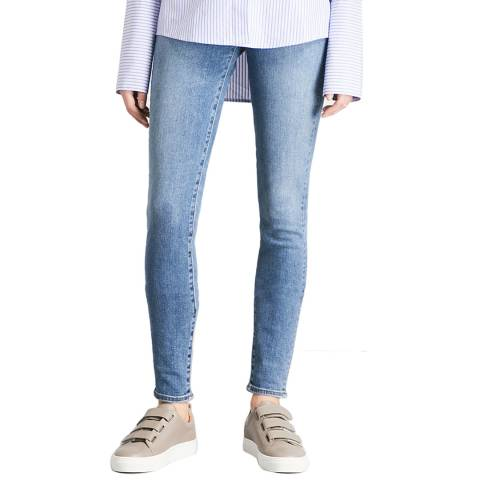J Brand Light Blue Carolina High Rise Skinny Stretch Jeans