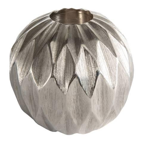 Gallery Silver Kingsley Large Diamond Ball Tealight Holder