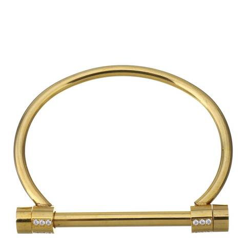 Chloe Collection by Liv Oliver Gold Bar Embellished Bangle