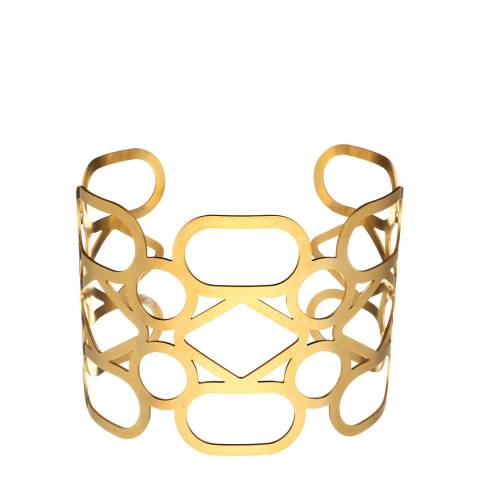 Chloe Collection by Liv Oliver Gold Geometric Cuff Bangle
