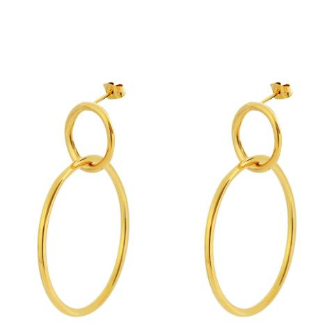 Chloe Collection by Liv Oliver Gold Double Link Ring Earrings