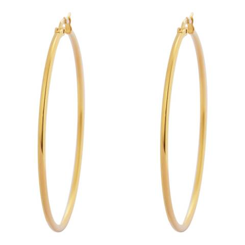 Chloe Collection by Liv Oliver Gold Plated Hoop Earrings