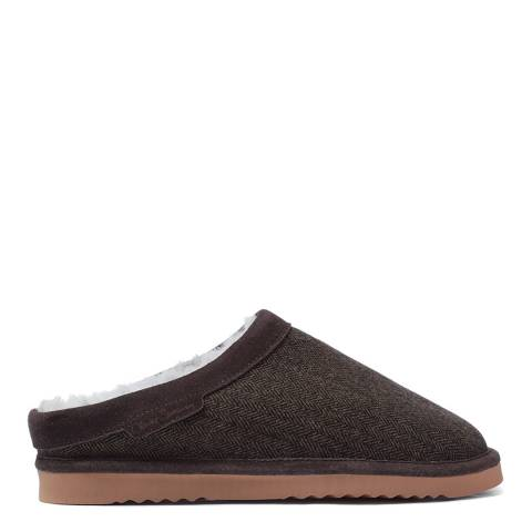 Oliver Sweeney Brown Tweed Wistow Mule Slippers