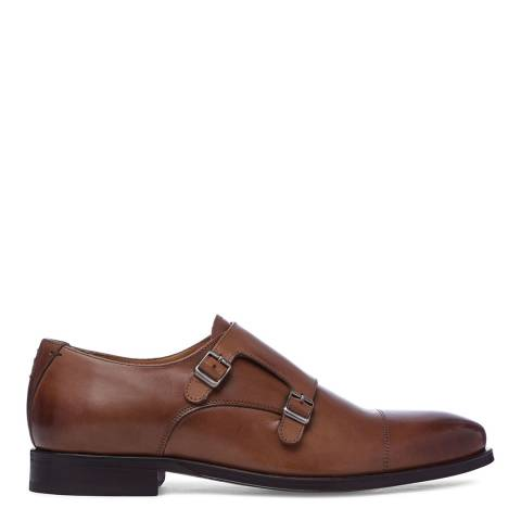 Oliver Sweeney Tan Leather Monk Strap Shoes