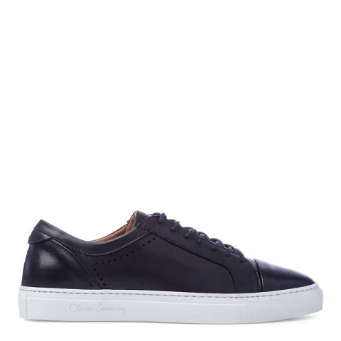 Oliver Sweeney Navy Leather Vendas Trainers