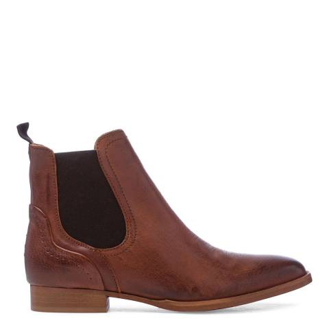 Oliver Sweeney Tan Leather Beja Classic Chelsea Boots