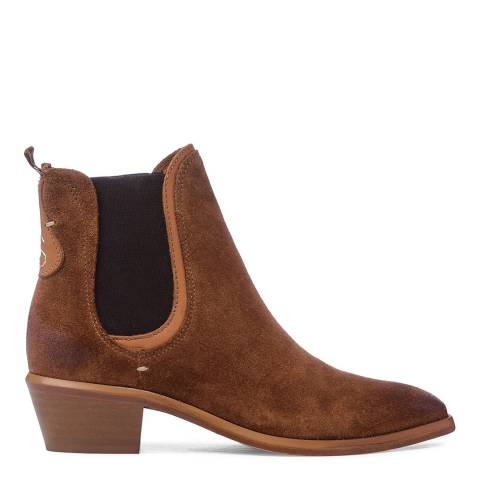 Oliver Sweeney Cognac Suede Serpa Ankle boots