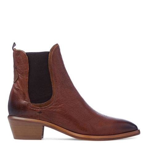 Oliver Sweeney Tan Leather Serpa Ankle boots