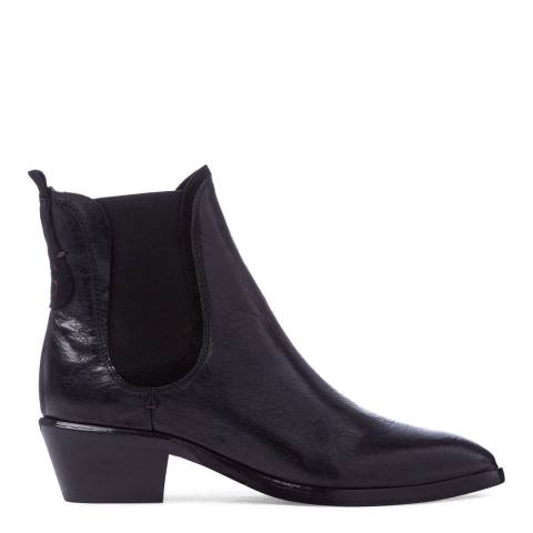 Oliver Sweeney Black Leather Serpa Heeled Chelsea Boots