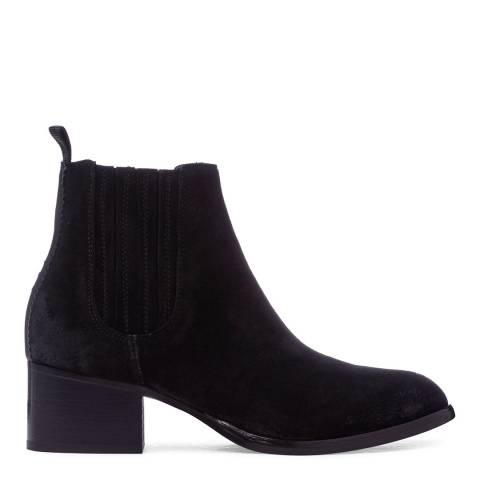 Oliver Sweeney Black Suede Amendoa Heeled Chelsea Boots