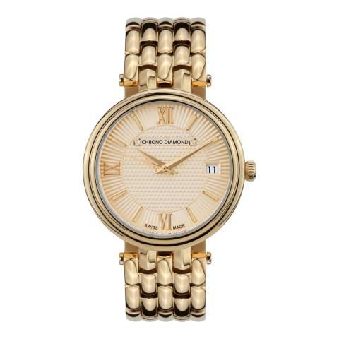 Chrono Diamond Women's Swiss Gold Watch