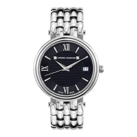 Chrono Diamond Women's Swiss Silver Watch