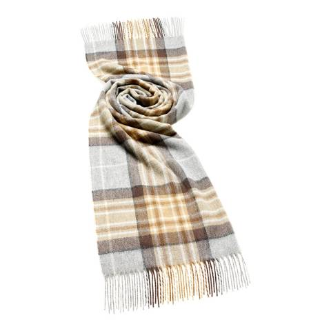 Bronte by Moon Natural/Blue McKeller Check Scarf