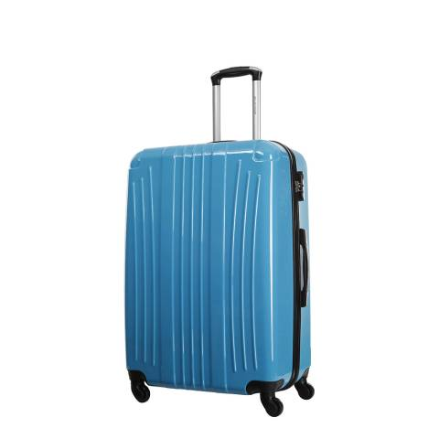Platinium Blue Grimsby 4 Wheel Cabin Suitcase 50cm