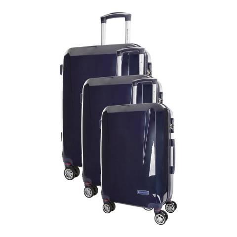 Platinium Mainre Blue Marshall 8 Wheeled Set Of Three Suitcases 50/60/70cm