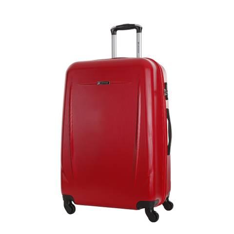 Platinium Red 4 Wheel Suitcase 60cm