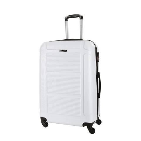Platinium White Basildon 4 Wheel Suitcase 60cm