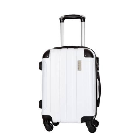 Platinium White Delos 4 Wheeled Suitcases 60cm