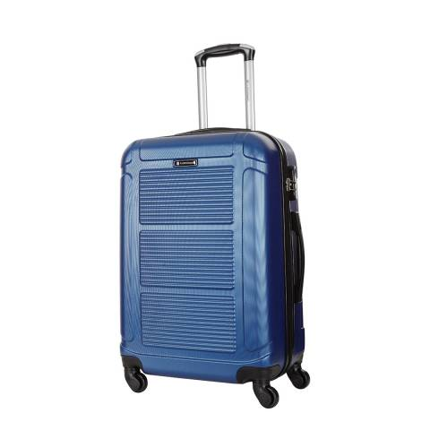 Platinium Blue Basildon 4 Wheel Suitcase 60cm