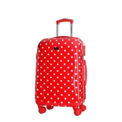 Platinium Red Phuket 8 Wheeled Suitcases 50cm